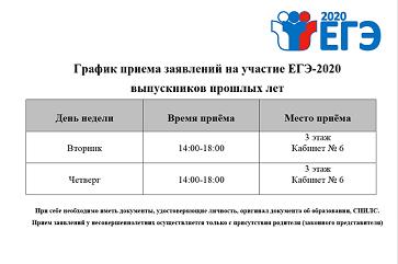 О сроках и местах подачи заявлений для прохождения государственной итоговой аттестации по образовательным программам среднего общего образования, местах регистрации на сдачу единого государственного экзамена в Карачаево-Черкесской Республике в 2020 году